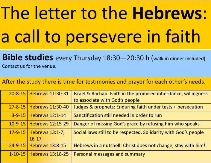 Hebrews study programme