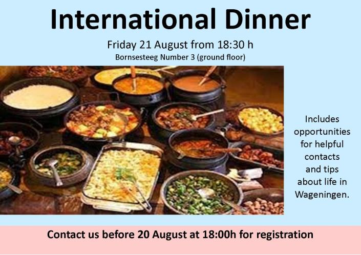 International dinner 2015